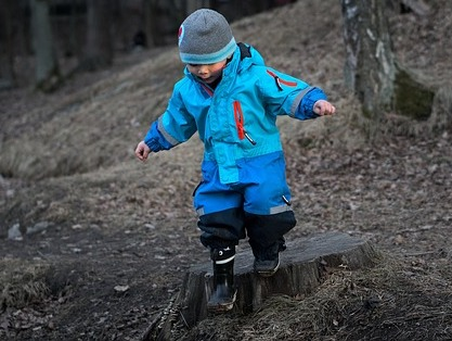 Between year 1 and 3 toddler learns how to walk, run and jump